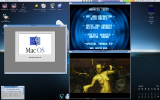 MorphOS 2.4 na Macu Mini